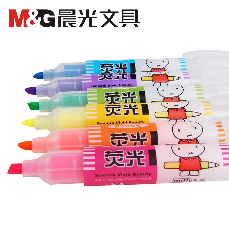 晨光MF5301米菲香味 彩色荧光笔 6色荧光笔 标记笔 记号笔