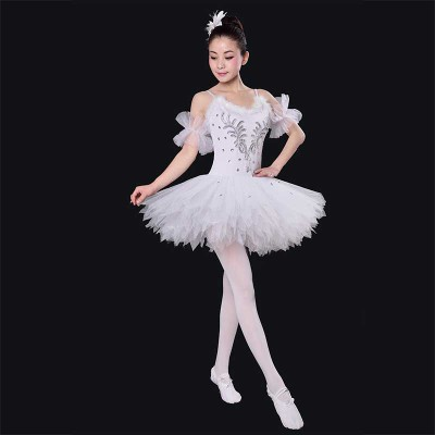 Ballet Dress, adult ballet, yarn skirt, performance, black and white swan dress, feather ballet, pengpeng skirt, portrait dress.