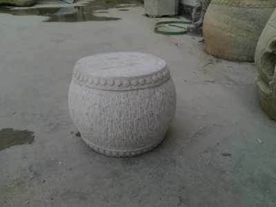 Special price antique stone carving stone bench flower bottom coffee table Han white jade drum garden room calamus pot bottom
