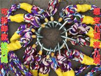 Бесплатная доставка по китаю Fun буксир веревки веревка ткань конопляный канат буксир войны треугольник треугольник многонаправленный бег мужской Игрушка большая пила может быть настроена