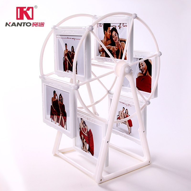 USD 5.92] Rotating Ferris wheel photo frame swing Table 5-inch large ...