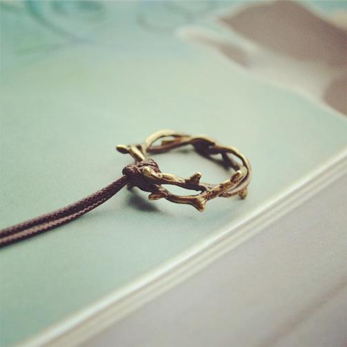 【买一送1】毛衣原创小清新森女系可爱戒指项链荆棘链长链女闺蜜