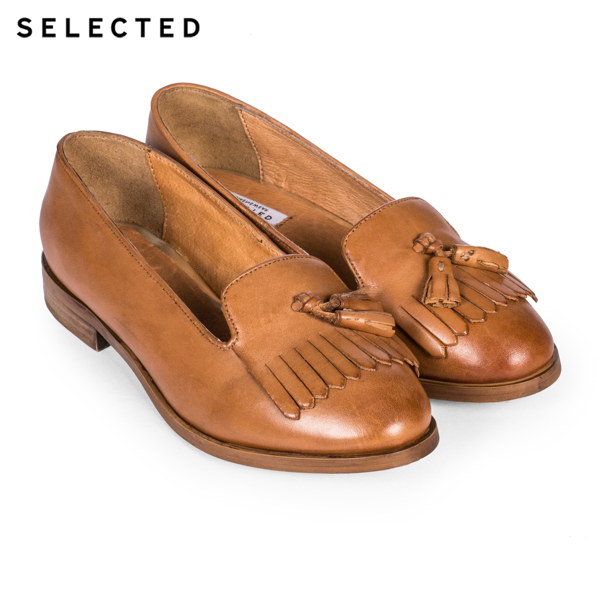 Off the shelf | SI Ms Ryder leather tassel loafers, SELECTED C-415398002