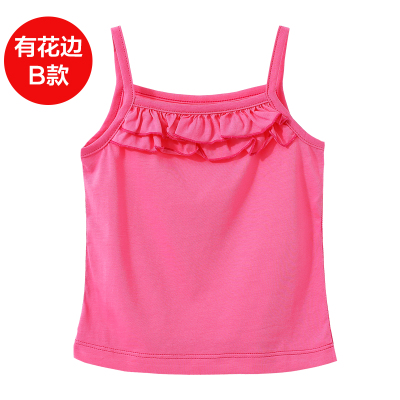 Polar Summer Girls Bottoms Camisole Cotton Breathable Thin Women's Underwear Base Shirt Infant Children's Wear 3536