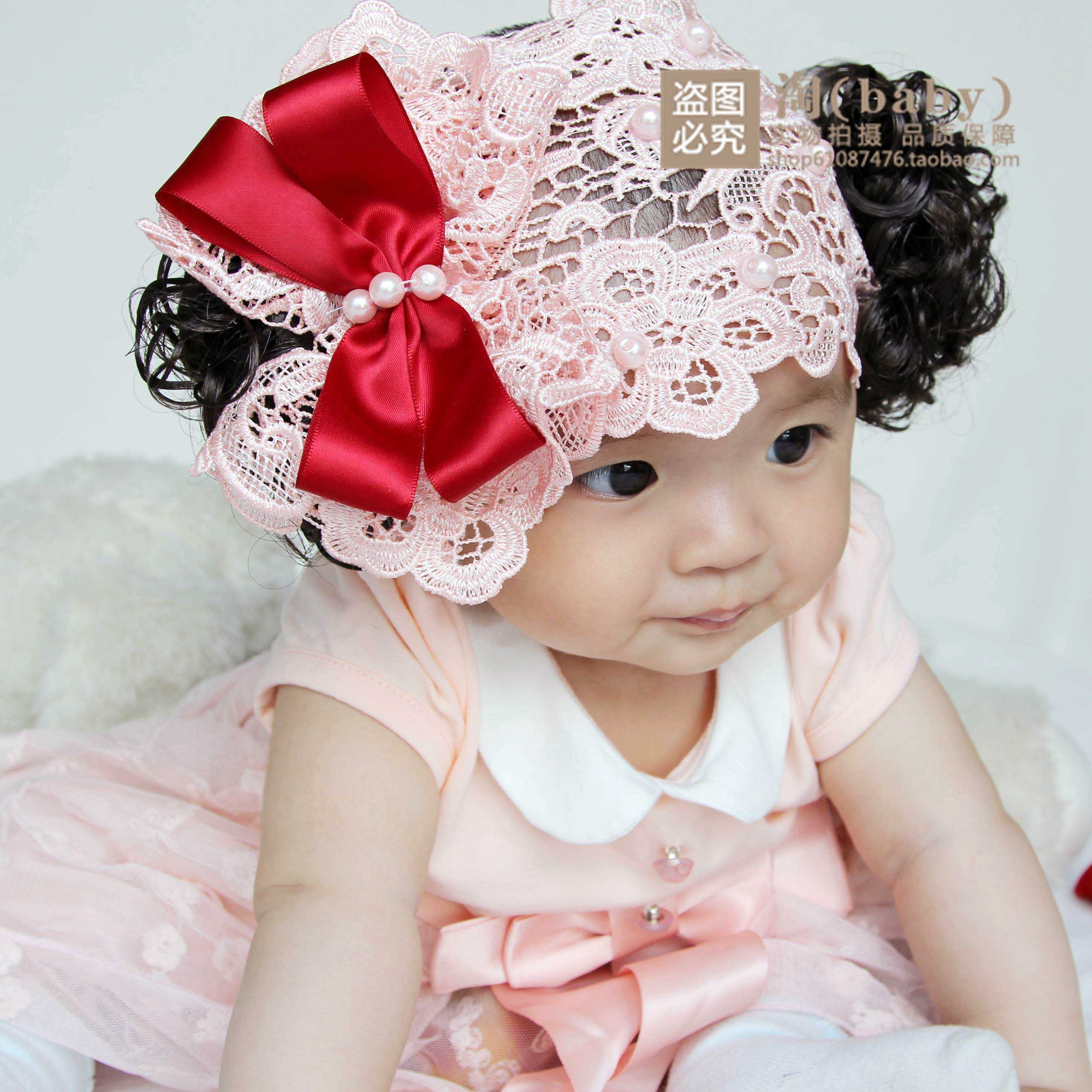 Korean version of the new baby child headdress hair band female baby dress  accessories studio photo a72f282120f
