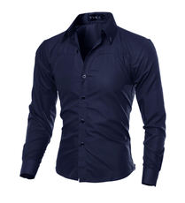 Shirt men men Casual Shirts Slim Fit long sleeve Dress Shirt 5XL