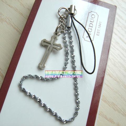 JESUS十字架手机链男士女士儿童创意汽车挂饰挂件基督教礼品多色
