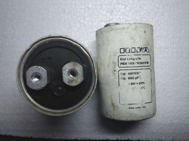 力发RIFAPEH169系列老款印字有电容400V680UF高压发烧水声