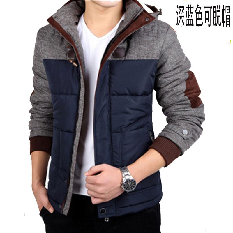 青少年男装短款轻薄加厚羽绒棉服男韩版修身型男士棉衣潮冬季外套