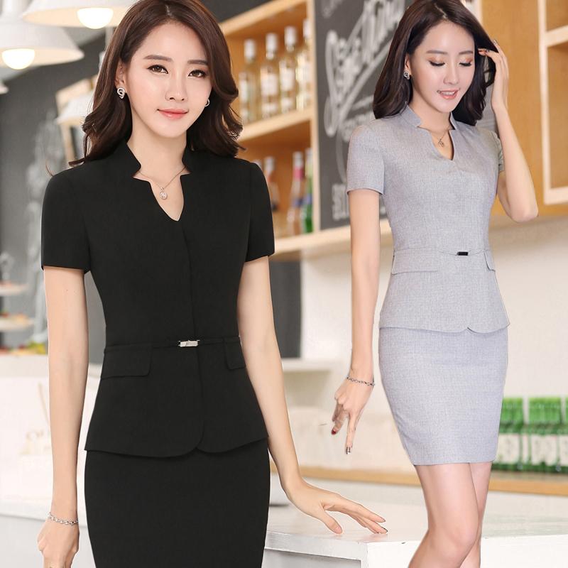 Usd hotel manager front desk uniforms summer for Spa receptionist uniform design