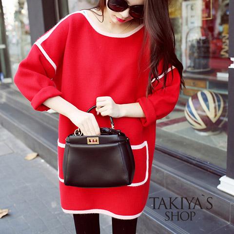 秋冬款韩国加厚长款t恤女休闲宽松显瘦加绒中长款长袖体恤连衣裙