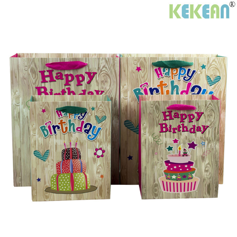 Ke Gift Box Bag Happy Birthday Shopping Vertical