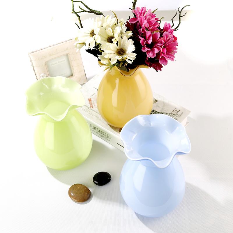 玻璃花瓶彩色插鲜花干花欧式客厅摆件券后16.80元包邮