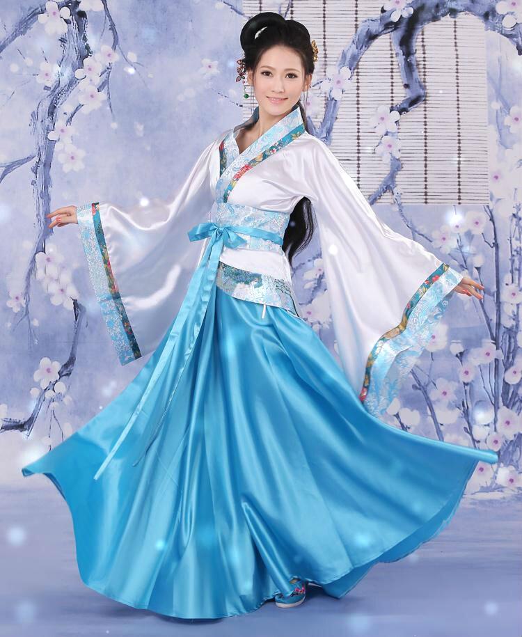 新款古装汉服仙女装襦裙成人礼服唐装写真正规双绕曲裾演出服套装
