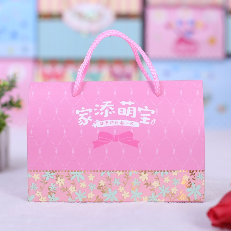 Baby Full Moon Egg Box Gift Hundred Days Banquet Candy Bag Large Birthday With Hand