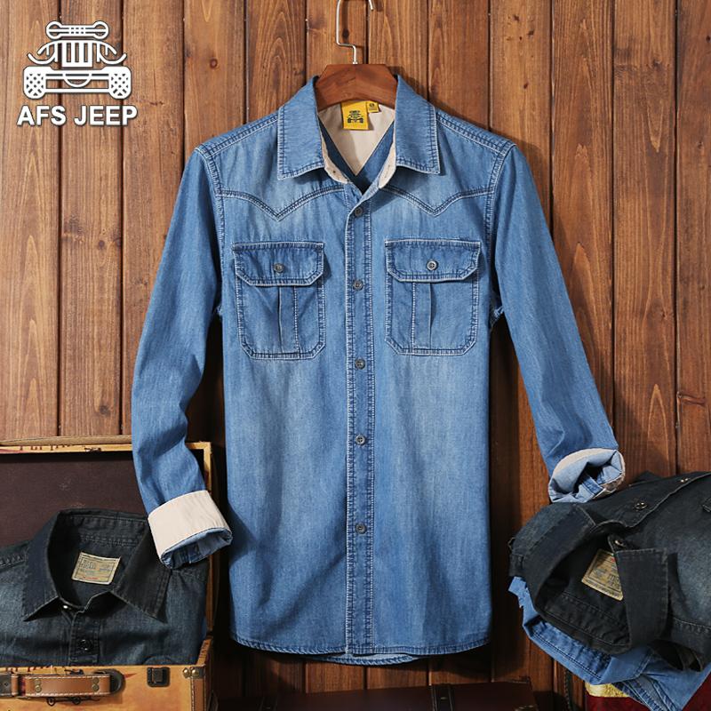 优鲨新款男士秋季长袖衬衫纯色休闲衬衣男款修身全棉牛津纺寸衫