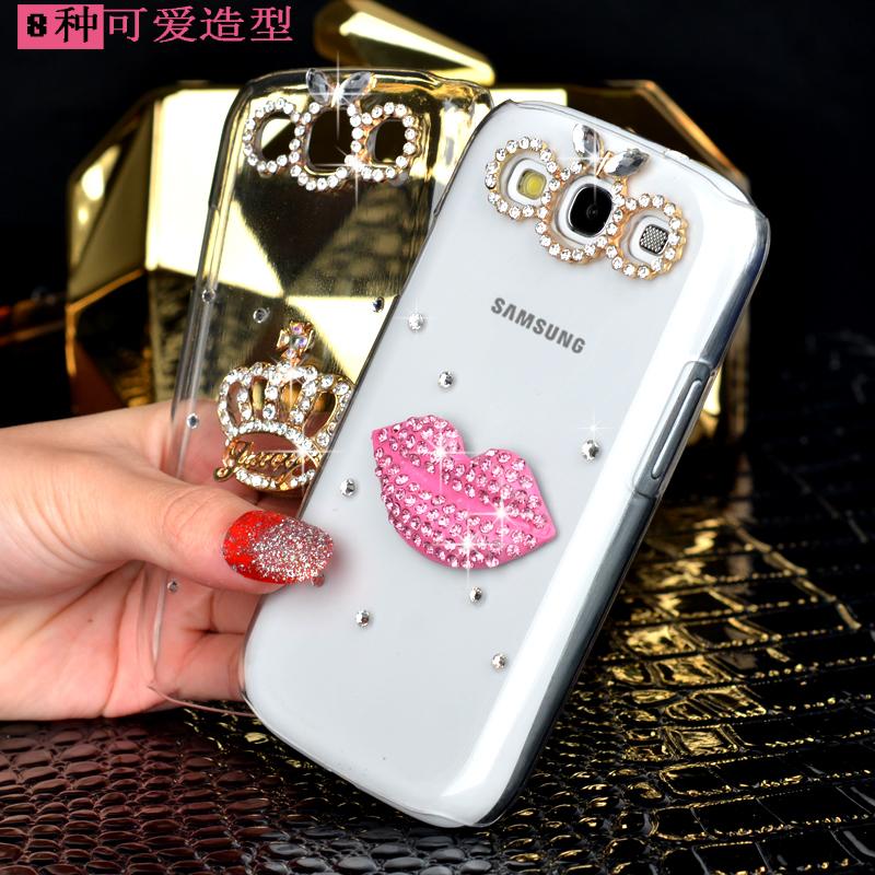 高档三星I8552手机壳i8558保护套GT18552外壳GT18558后盖硬壳水钻