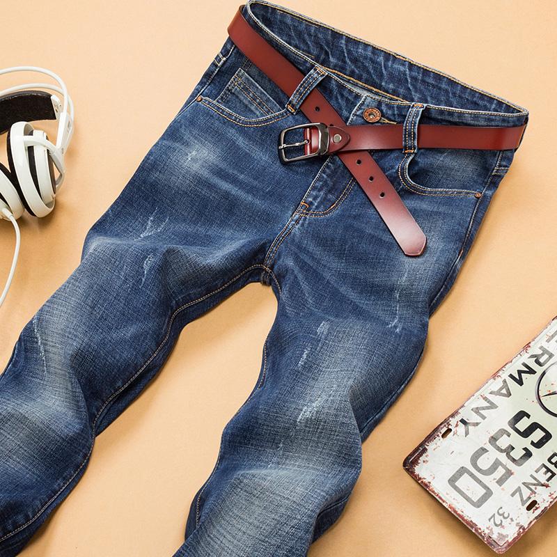 Mùa thu và mùa đông nam jeans nam thanh niên mỏng nhỏ thẳng quần âu Hàn Quốc phiên bản của xu hướng quần 2017