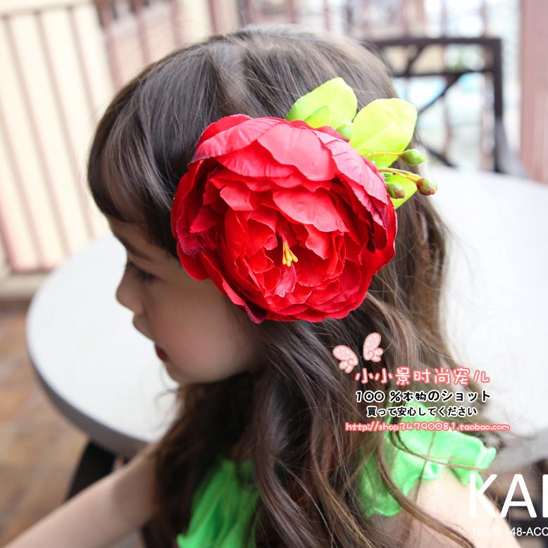 清仓韩国饰品红色大蝴蝶结蕾丝发箍头箍头花头饰发卡发带儿童发箍