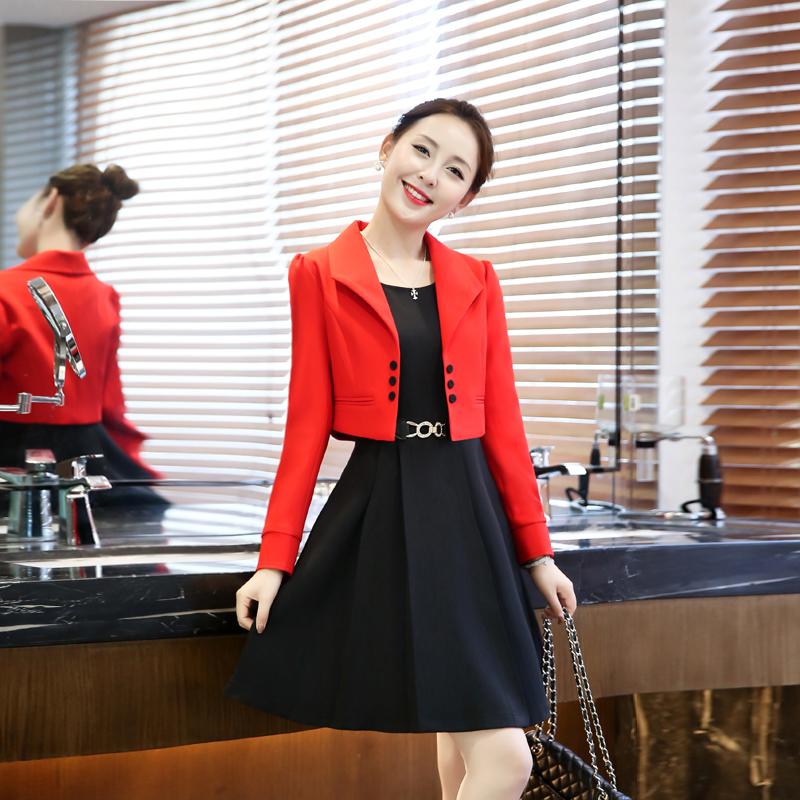 2017春装新款30-35-40岁中年少妇女装时尚套装裙两件套连衣裙潮36