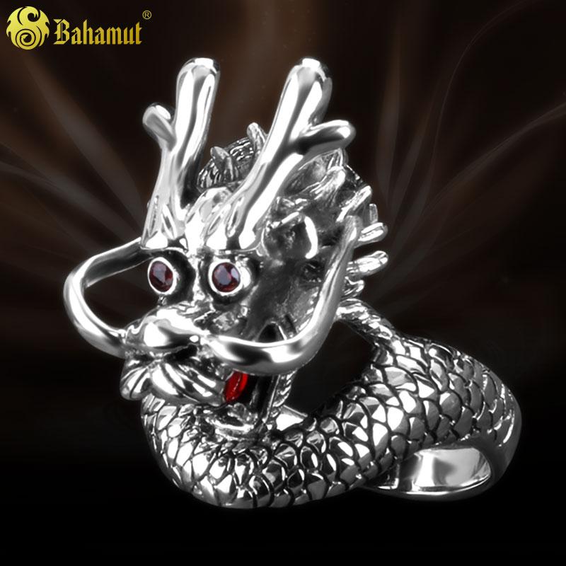 银の曼925银男戒指 复古泰银 手工银 全知 上帝之眼 开口戒指指环