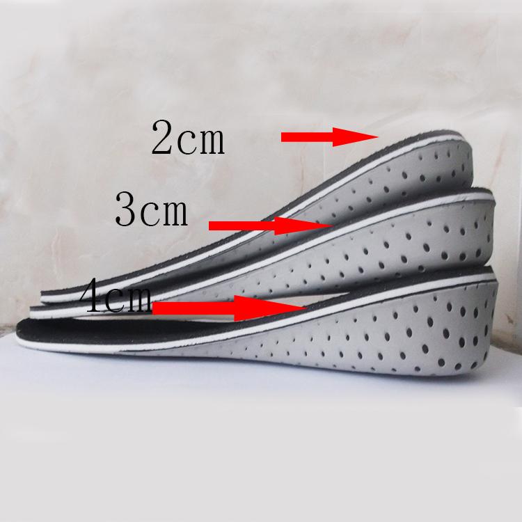 减震记忆出口日本2/3/4厘米cm内增高鞋垫男士女款隐形垫全垫透气