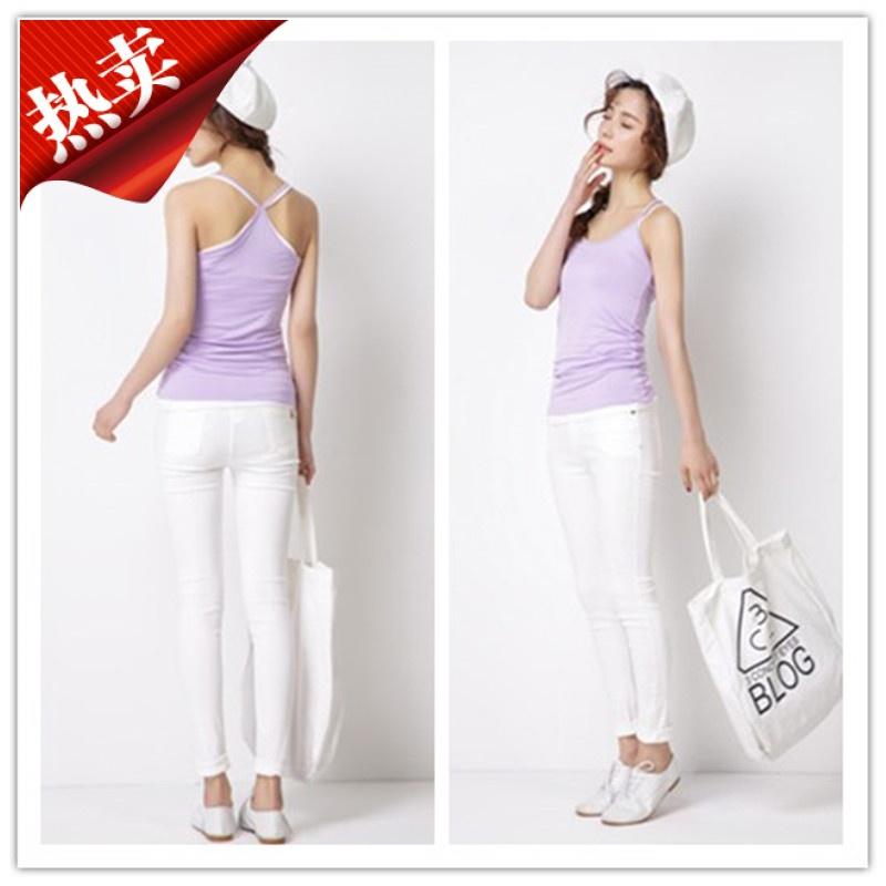 韩版新款职业装搭配吊带女背心莫代尔弹力可调节吊带衫加肥加大ol