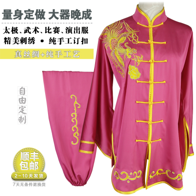 Chinese Martial Arts Clothes Kungfu Clothe  Tai Chi Performs Clothes with Sleeves Embroidered Phoenix Tailor-made Adult Women