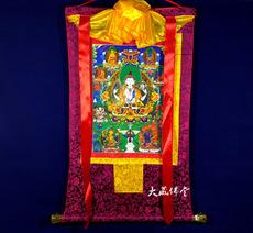 Тханка Тибетский четырьмя руками картины Гуань