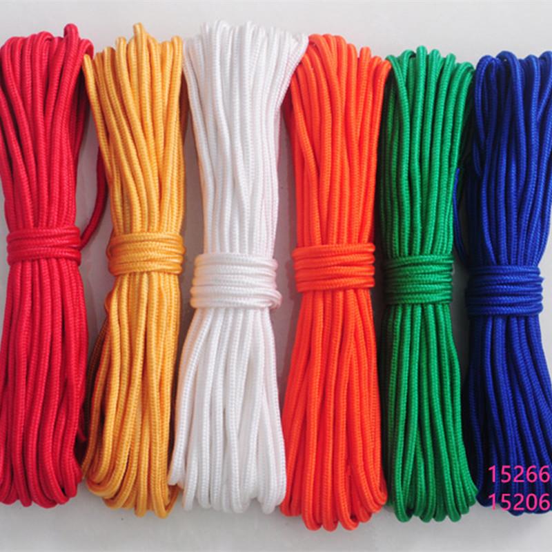白色绳子编织绳捆绑绳帐篷绳晾衣绳绳子丙纶涤纶彩色装饰绳尼龙绳