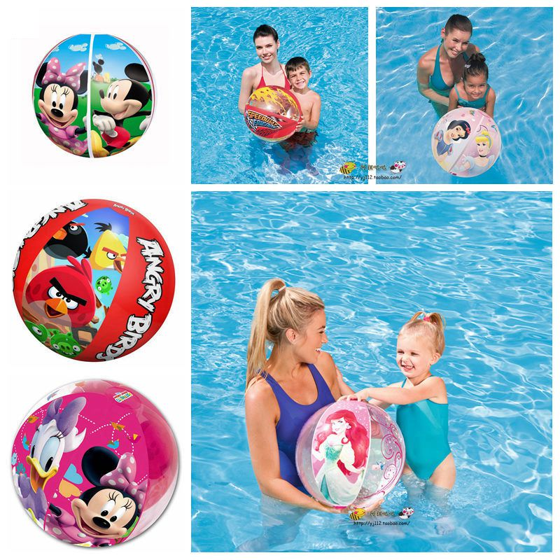 beach ball in ocean. Mickey Princess Child Beach Ball Car Models Unisex Kids Ocean Baby Inflatable Water Polo In