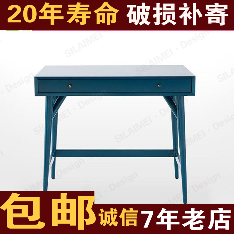 Solid Wood Computer Desk Hotel Desktop Small Simple Dresser Student Children Learning Table
