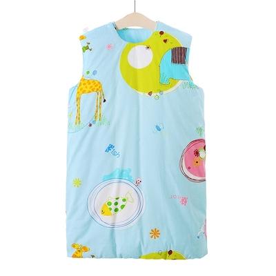 儿童纯手工缝制棉花婴幼儿宝宝纯棉布睡袋无袖防踢被可洗秋款全棉