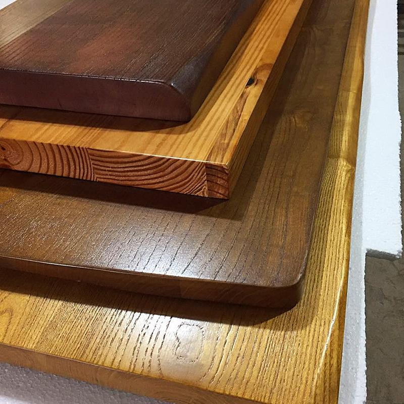 老餐桌面板飘窗板材桌面实木板原木茶吧台v餐桌榆木2米长定制大板