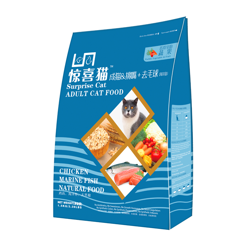 惊喜猫 天然宠物 猫粮 1.5kg