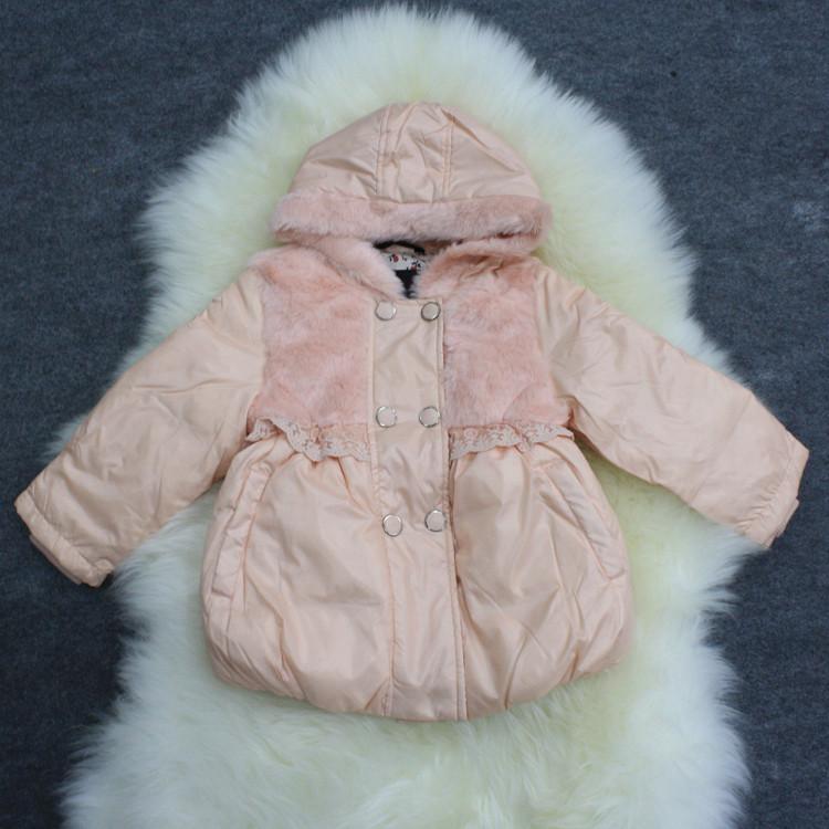 女童装小童外套羽绒服2015冬新款韩版正品品牌连帽中长款外衣