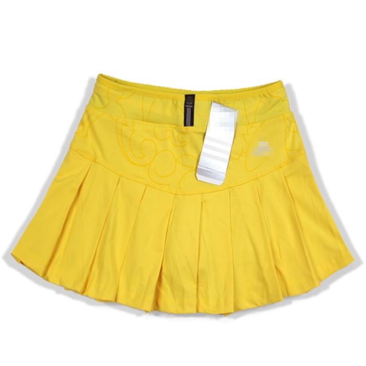 2016 весна женщина содержит подкладку брюки воздухопроницаемый быстросохнущие спортивный досуг сверхлегкий движение юбка плиссированный юбка желтый