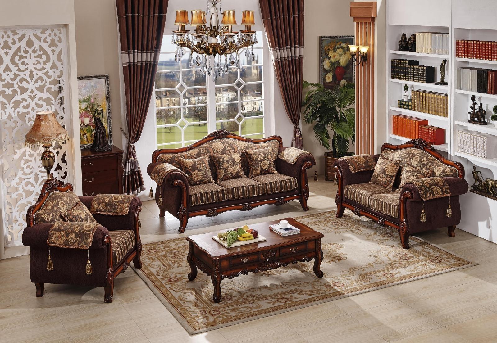 欧式布艺沙发三人可拆洗单人双人客厅组合简欧家具新古典欧式家具