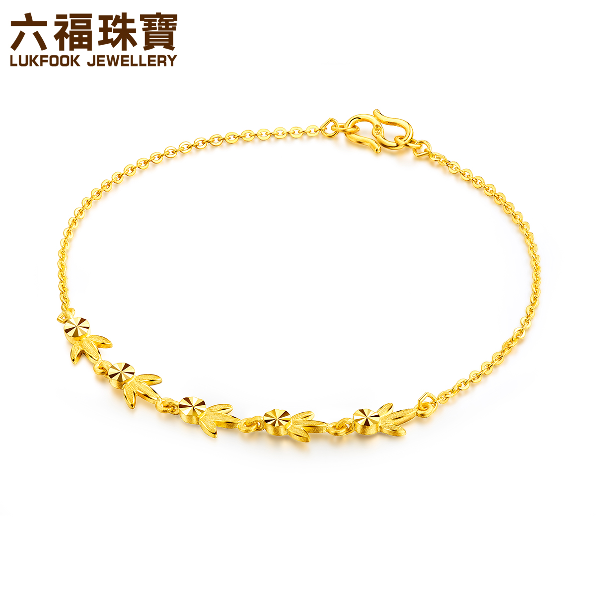 Fook jewellery Gold bracelet Maple Leaf Elf Gold bracelet girls ...