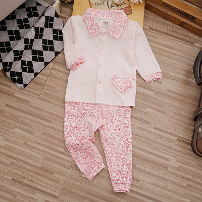 0-3 years old baby children's clothing men and women baby autumn and winter cotton home service underwear suit long-sleeved confrontation