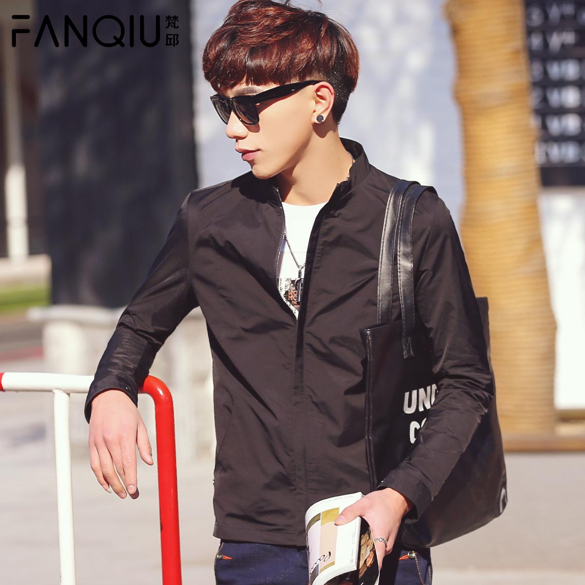 男士韩版修身jacket衫青年薄款休闲茄克潮 2016春季男装夹克外套