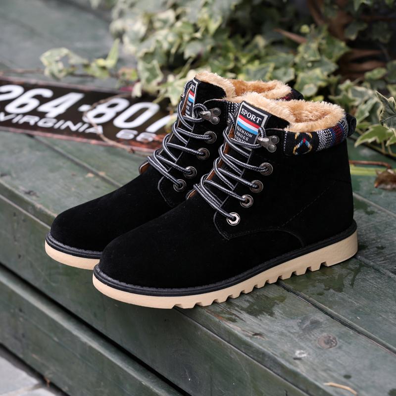 冬季韩版潮流女男士雪地靴加绒保暖棉鞋情侣短靴潮男鞋高帮男靴子