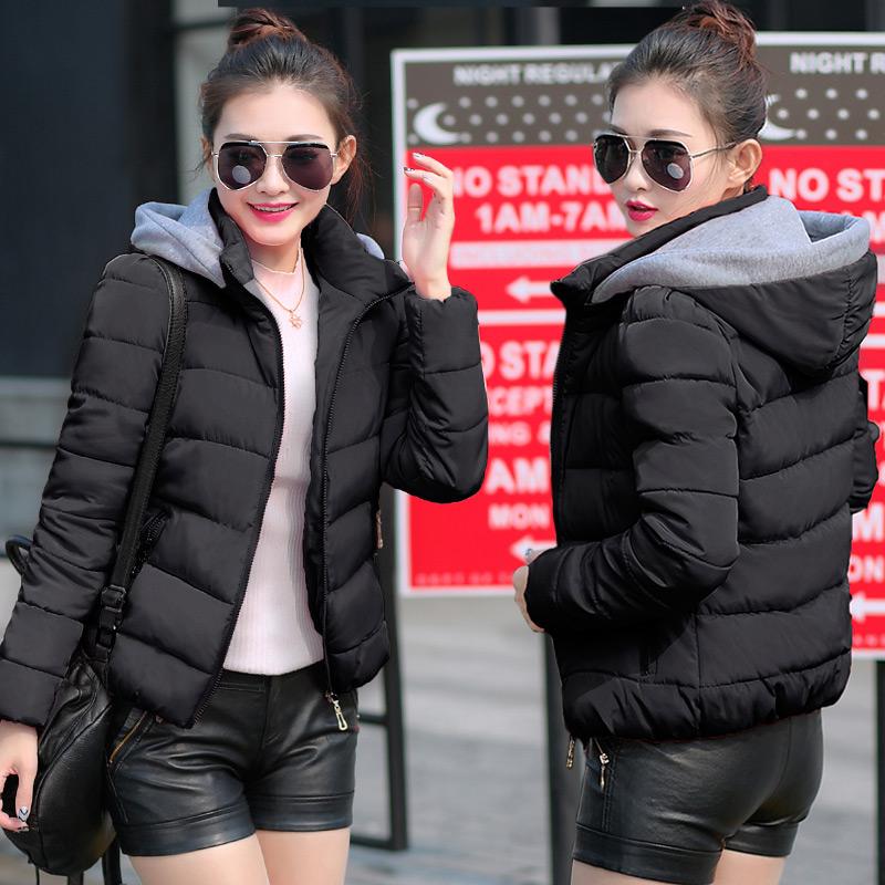 2015新款韩版时尚短款珍珠领羽绒服圆领包边修身显瘦女装外套潮