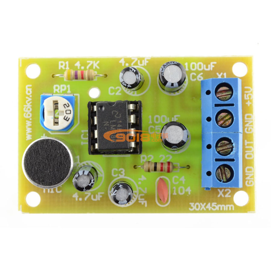 Usd 522 Lm386 Integrated Circuit Voice Amplifier Audio Board Parts Electronic Production Kit