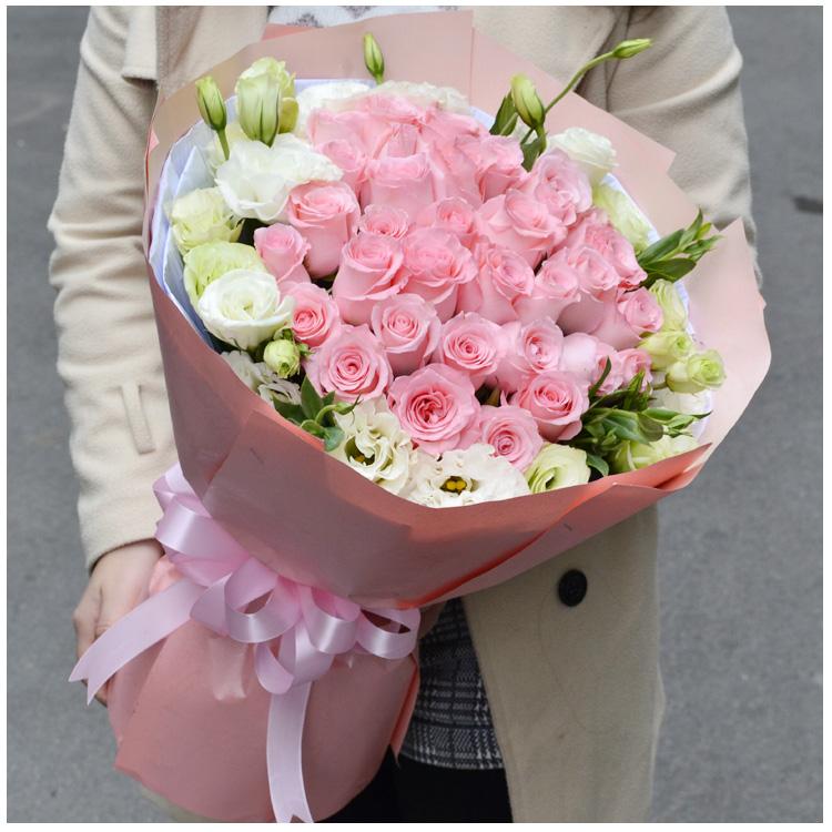 红玫瑰花束涪陵生日同城v花束江津万州北碚合川永川重庆鲜花配送花