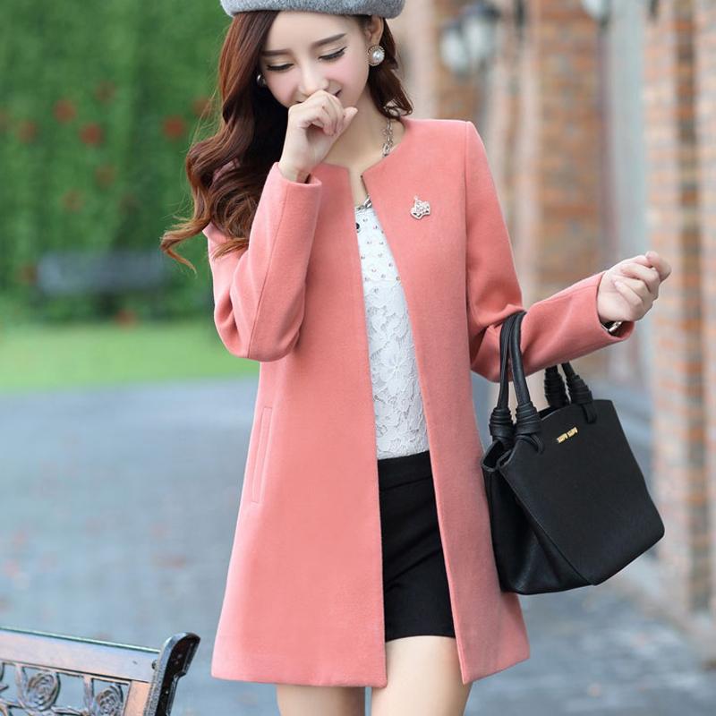 2015冬季韩版新款女装过膝中长款棉衣时尚修身显瘦棉服外套潮包邮