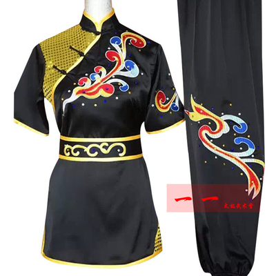 Martial Arts Clothes  Kungfu clothes Short-sleeved Wushu costumes embroidered by men and women, adult children kungfu costumes, LONG-FIST costumes, martial arts costumes and colored costumes
