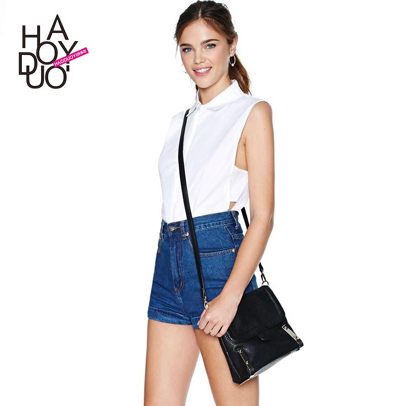 包邮韩版女士短袖白色衬衫 V领职业装衬衣女夏宽松版雪纺衫泡泡袖