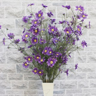 Simulation High Branch Cosmos Long Branch Gesang Flower Chrysanthemum Dried Flower Artificial Flower Decoration Flower Living Room Decoration Flower Small Daisy Flower