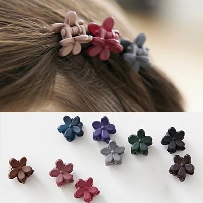韩国进口正品儿童 发饰头饰品 磨砂亚克力小花朵发抓 抓夹刘海夹
